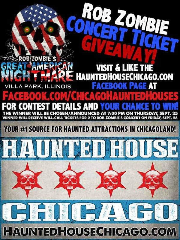 Rob Zombie Concert Ticket Giveaway