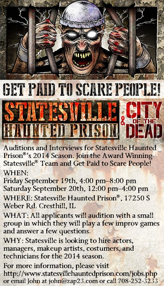 Statesville Haunted Prison Auditions & Interviews This