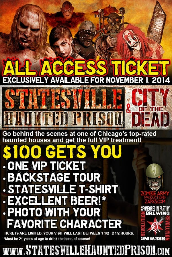All Access Ticket to Statesville Haunted Prison