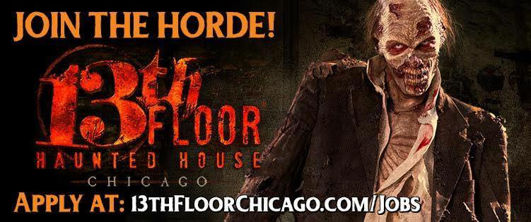 The 13th floor haunted house is hiring haunted houses for 13 floor