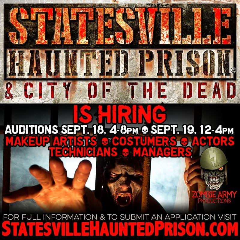 Statesville Haunted Prison Auditions & Interviews