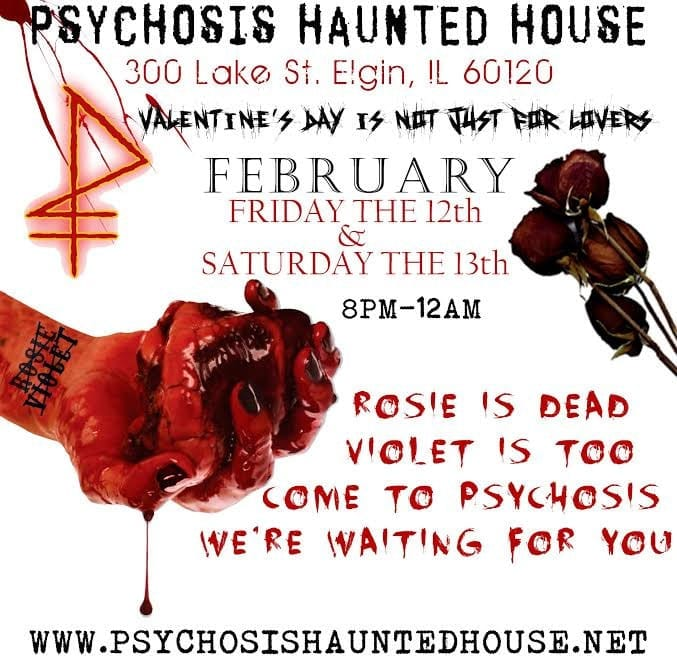 Have A Psychotic Valentine S Day With Psychosis Haunted House Feb