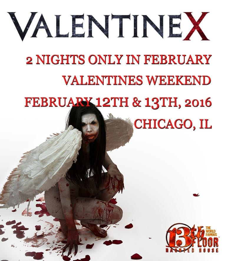 Valentine x at the 13th floor haunted house february 12 for 13th floor haunted house chicago