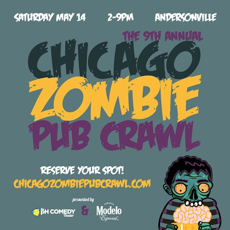Chicago Zombie Pub Crawl 2016