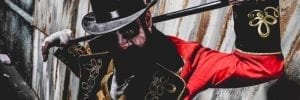 The Ringleader serves as the master of scare-a-monies at Midnight Terror's Clown Takeover