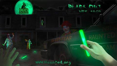 Black Out At Niles Scream Park