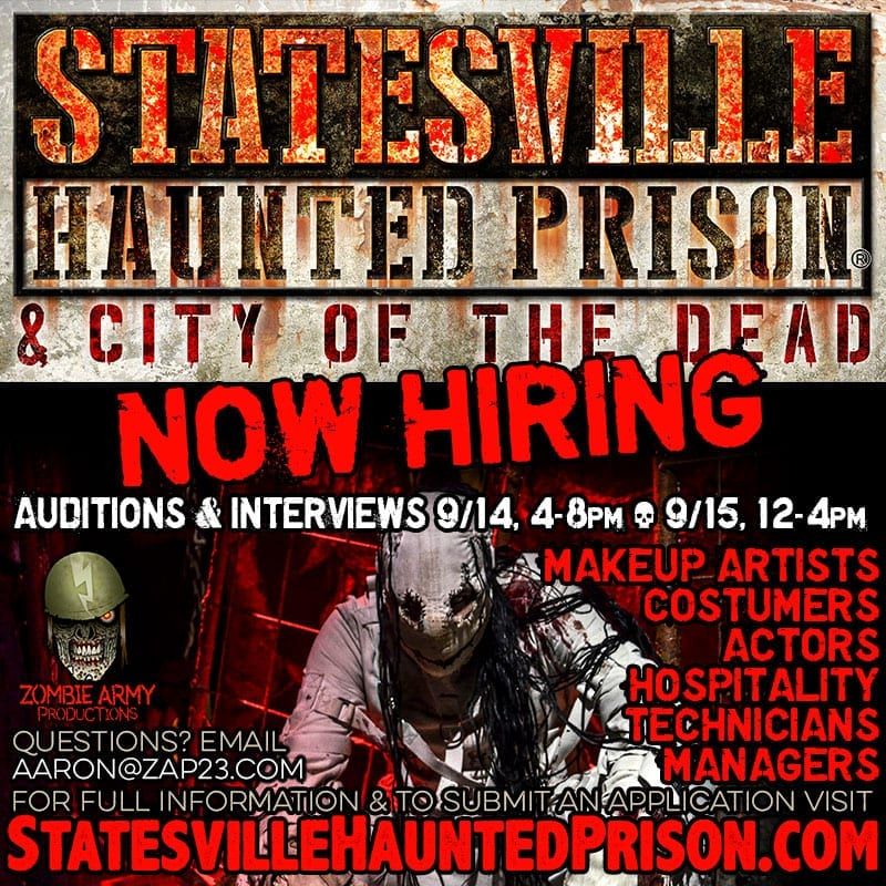 Statesville Haunted Prison - Now Hiring
